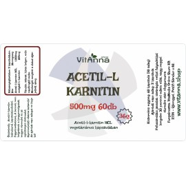 Acetil-l-karnitin kapszula 500MG 60DB
