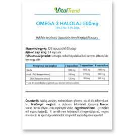 OMEGA-3 (18/12) halolaj kapszula 500MG 120DB
