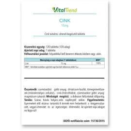 Cink tabletta 15MG 120DB