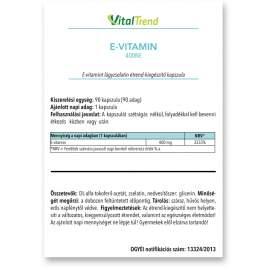 E-Vitamin kapszula 400NE 90DB
