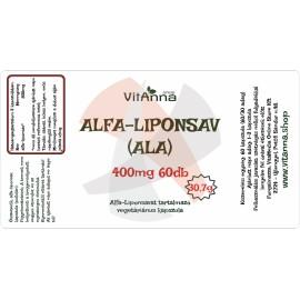 Alfa-liponsav kapszula 250MG 60DB