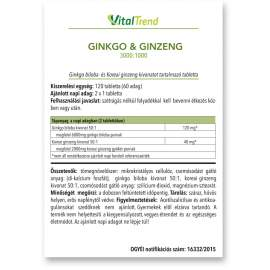 GINKGO + GINZENG TABLETTA 3000:1000 12DB