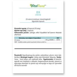 D3-vitamin 2000NE kapszula 60DB