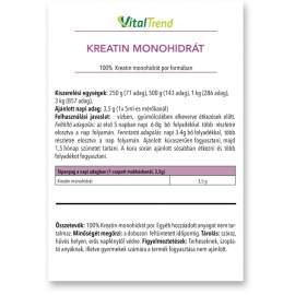 KREATIN-MONOHIDRÁT POR 500g