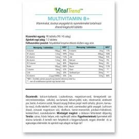 Multivitamin B+ tabletta 90 db