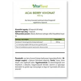Acai berry kivonat kapszula 400MG 60DB