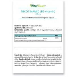 Nikotinamid (B3 vitamin) kapszula 400mg 60db