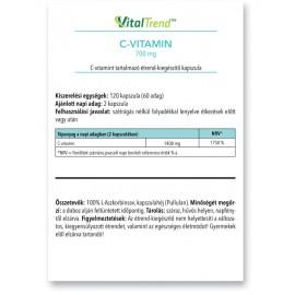 C-vitamin kapszula 700mg 120db