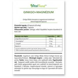 Ginkgo + Magnézium kapszula (100mg+240mg) 60db
