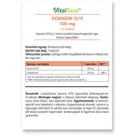 Q10 koenzim100 mg + C vitamin kapszula